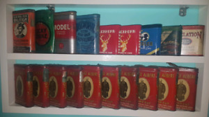 Tobacco tins and tobacco related items