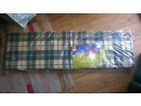 Green check Henley Bench Cushion from B&Q - BRAND NEW, still in package