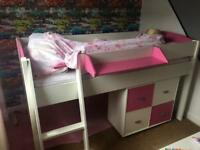 Kids Stompa Mid Sleeper and Storage unit for sale