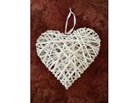 White Wicker Hearts for Wedding/Party/Decoration