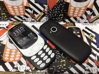 New NOKIA 3310 2017 Dual SIM 2MP Camera Mobile Phone - Black No-offers