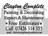 Painting, Decorating, Repairs, Maintenance, interior, exterior, Free Estimates