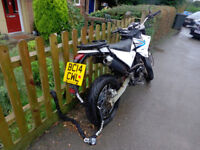Sinnis Apache 125cc, Owned from new, very good condition, new michelin pilot street tyres.
