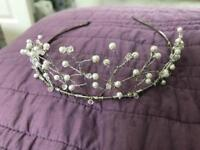 Petals International pearl & crystal tiara