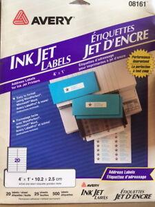 brand new Ink jet labels