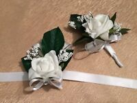 Hand made glasses,centerpieces etc. for wedding