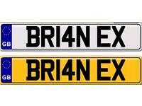 BRIAN X private number plate for sale