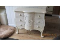 selection of bedroom furniture in ivory cream colour