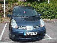 AUTOMATIC NISSAN NOTE,1600CC,58 PLATE