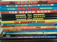 Vintage 1980/90s Comic Annuals 25 in total. Good condition. Beano, Dennis the Menace etc