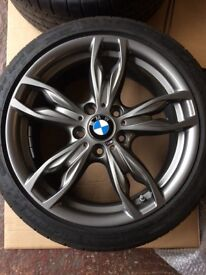 "Like new BMW M sport 140 18"" 1&2 Series alloy wheels with like new Michelin pilot super sport tyres"