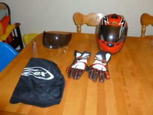 "Zox ""Ripper"" Motorcycle Helmet & Gloves"