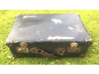 Vintage KNILM Badge Airline 1930s Suitcase With internal straps