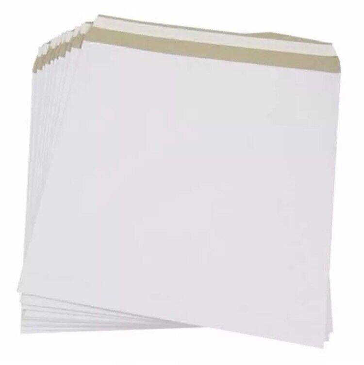 "49 x 12"" LP Vinyl Record Mailers Envelopes White"
