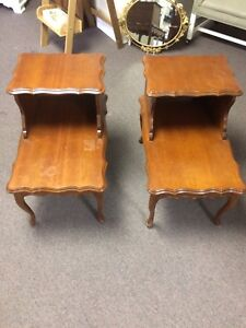 Pair of French Provincial Side Tables (Kelowna)