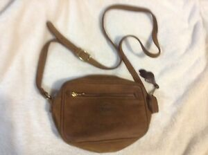 Roots leather cross body bag, purse, fits most phones