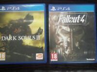 PlayStation4 games Dark Souls 3 + Fallout 4