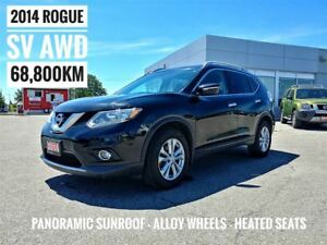 2014 Nissan Rogue SV Sunroof Htd Seats AWD  FREE Delivery