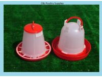 NEW CHICKEN POULTRY DUCK CHICK QUAIL 1KG FEEDER + 1.5 LITRE DRINKER