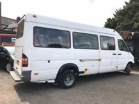 MERCEDES BENZ SPRINTER 410 D 2.9 TD + 1998 S + LWB HIGH ROOF MINIBUS TWIN WHEELS
