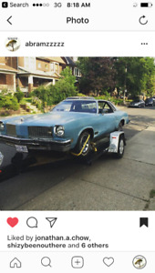 1975 Oldsmobile Cutlass Baby blue Sedan