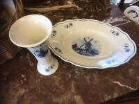 TWO DELFT POTTERY ITEMS
