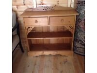 Antique pine dresser 2 draw & shelf. Very good condition , collection only