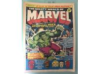 Marvel comics. Mighty world of marvel golden era
