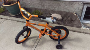 "14"" bike with training wheels"