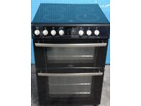 BLACK/SILVER STOVES FREE STANDING 60cm ELECTRIC COOKER, 4 MONTHS WARRANTY