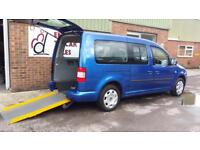 2010 VW Caddy Maxi Life AUTOMATIC Diesel Wheelchair Accessible Vehicle