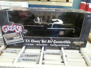 ERTL 1:18 Scale 55 Bel Air Convertible From The Movie Grease