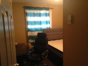 one room of three bedrooms is available in Sept.(close to UNB)