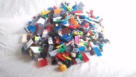 Lego: random selection of lego pieces, photo is indicative not exact.