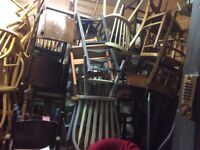 Job lot of 20 vintage dining chairs