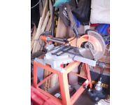 Einhell electric sliding compound mitre saw