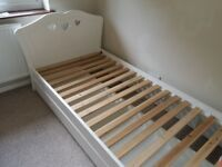 Girls Heart Bed with Draw