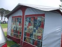 starcamp cameo (by Dorema) full size caravan awning with tall annexe and bedroom good condition