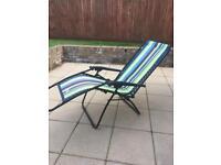 Garden sun lounger/reclining chair