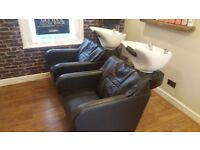 2 hairdressing basins one with massage chair COLLECTION ONLY