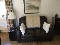 High quality leather sofa by Barker and Stonehouse - matching suite and furniture if required