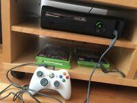 Xbox 360 + 1 Controller + 4 games