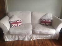 White IKEA sofas 1 for £70; 2 for £100