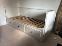 Ikea Hemnes Day Bed frame plus three drawers - good condition