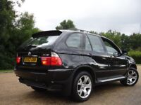 /// BMW X5 SPORT 52 PLATE 3.0 AUTOMATIC /// BLACK JEEP 4X4 SAT NAVIGATION LEATHERS ///