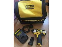 Stanley dewalt fatmax Cordless 12v impact driver in kit bag mint condition