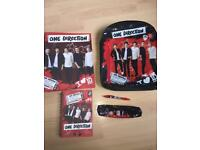 One Direction Back packA4 Folder, Notebook and Pen, and case