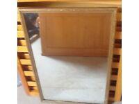 Mirror with golden frame, antique