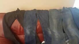 Jeans boys age 11-12 trousers bundle