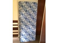 """Single Bed Mattress hardly used. H 68.5"""" x W 29.5"""" x D 6.5"""". Collection only"""